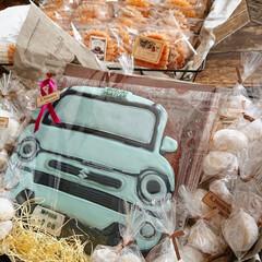 車/アイシングクッキー お友達が車を乗り換え インパクトのある贈…