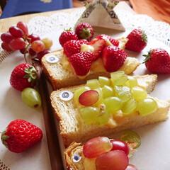 手作りおやつ/こいのぼり/端午の節句/おうちごはん/暮らし 『星の煌めき』って名前の苺🍓 カスタード…
