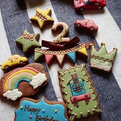 リミとも部/アイシングクッキー 2歳のお誕生日にクッキーを✨ いっぱい遊…