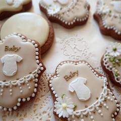 baby/赤ちゃん/手作りお菓子/アイシングクッキー 赤ちゃんってこんなに小さくて こんなにか…