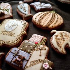 ハロウィン/リミとも部/手土産/アイシングクッキー 手土産にアイシングクッキーを✨ せっかく…
