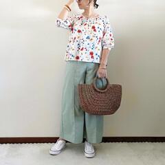 プチプラ/キレイめカジュアル/ママファッション/夏コーデ/夏ファッション 𓃟ﻌﻌﻌ❤︎𓃟ﻌﻌﻌ❤︎ * #ootd…