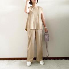 GU/ジーユー/セットアップ/ママファッション/夏コーデ/おしゃれ/... 𓃟ﻌﻌﻌ❤︎𓃟ﻌﻌﻌ❤︎ * #ootd…