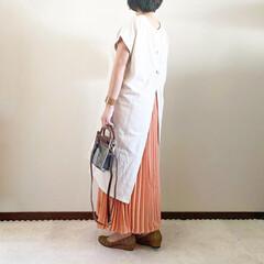レイヤード/夏コーデ/ママファッション/おしゃれ/最近のコーデ 𓃟ﻌﻌﻌ❤︎𓃟ﻌﻌﻌ❤︎ * #ootd…(2枚目)