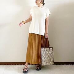 ママファッション/キレイめカジュアル/ファッション/おしゃれ/夏ファッション/ユニクロ/... 𓃟ﻌﻌﻌ❤︎𓃟ﻌﻌﻌ❤︎ * #ootd…(1枚目)