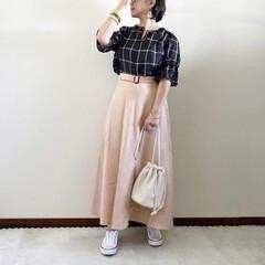 プチプラ/キレイめカジュアル/ママファッション/夏コーデ/GU 𓃟ﻌﻌﻌ❤︎𓃟ﻌﻌﻌ❤︎ * #ootd…