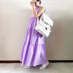 バックパック/夏コーデ/ママファッション/おしゃれ/最近のコーデ 𓃟ﻌﻌﻌ❤︎𓃟ﻌﻌﻌ❤︎ * #ootd…