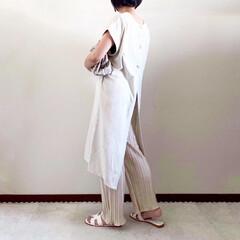 ワンピース/夏コーデ/ママファッション/春コーデ/おしゃれ/最近のコーデ 𓃟ﻌﻌﻌ❤︎𓃟ﻌﻌﻌ❤︎ * #ootd…(1枚目)