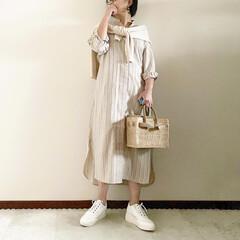 シャツガウン/スニーカー女子/大人カジュアル/ママファッション/春コーデ/ファッション 𓃟ﻌﻌﻌ❤︎𓃟ﻌﻌﻌ❤︎ * #ootd…
