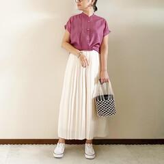 キレイめカジュアル/ママファッション/夏コーデ/おしゃれ/夏ファッション/GU 𓃟ﻌﻌﻌ❤︎𓃟ﻌﻌﻌ❤︎ * #ootd…