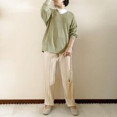プリーツパンツ/春コーデ/ママファッション/おしゃれ/最近のコーデ 𓃟ﻌﻌﻌ❤︎𓃟ﻌﻌﻌ❤︎ * #ootd…