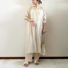 プリーツパンツ/レイヤード/夏コーデ/ママファッション/おしゃれ 𓃟ﻌﻌﻌ❤︎𓃟ﻌﻌﻌ❤︎ * #ootd…