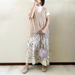 レイヤード/夏コーデ/ママファッション/おしゃれ/最近のコーデ 𓃟ﻌﻌﻌ❤︎𓃟ﻌﻌﻌ❤︎ * #ootd…