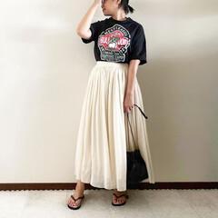 Tシャツコーデ/夏コーデ/ママファッション/おしゃれ/最近のコーデ 𓃟ﻌﻌﻌ❤︎𓃟ﻌﻌﻌ❤︎ * #ootd…