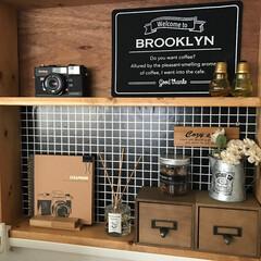 リビング棚/DIY/DIY収納/リビング収納/雑貨 【リビング棚】  四角く組んだだけの簡単…