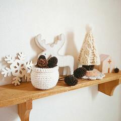 ホームコーディ/クリスマス/セリア/100均/雑貨/ハンドメイド/... ほんのりクリスマス   自作のツリーと、…