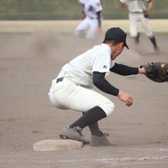 高校野球/春季大会/勝利/おめでとう/平成最後の一枚 春季大会での1枚。 アウトをとれた瞬間。…