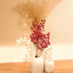 プチプラ雑貨/お花/玄関インテリア/玄関/ブリザードフラワー/ドライフラワー/... 玄関の花瓶12月 . Sostrene …