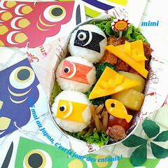 Instagram/グルメ/小学生のお弁当/幼稚園のお弁当/園児のお弁当/子どもが喜ぶお弁当/... Instagramで今も人気の鯉のぼり弁…(1枚目)