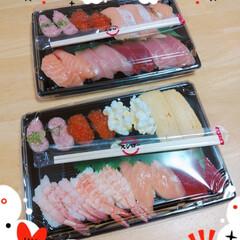 お寿司/スシロー/テイクアウト/おうちごはん/暮らし お久しぶりのお寿司💓(*´ω`pq゛ ネ…