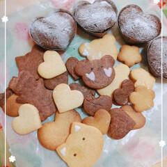 クッキー/バレンタイン2020/おすすめアイテム/暮らし クッキー🍪&カップケーキ(o^^o)🎶 …