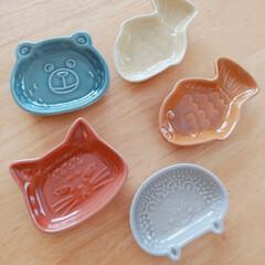 手作りは素敵/可愛い/豆皿/100均/セリア/エコバッグ 豆皿ちゃん💓増えましたぁ(∩´∀`∩)🎶…