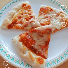 ピザ/脂肪が揺れる/ダイエット/振動マシン/ランチ/簡単/... ピザ💓焼きたて美味し~٩(๑ˆOˆ๑)۶…
