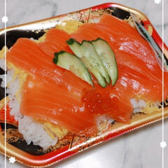 旦那様毎週お願いしたいな/楽チン夜ご飯/ちらし寿司弁当/おすすめアイテム/暮らし 旦那が買って来たぁ~(∩´∀`∩)ヤホ♡…