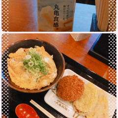 丸亀製麺/アイス/ピノ/ハーゲンダッツ/ご飯/おでかけ/... 丸亀さ~ん(o^^o)🎵  親子丼と出来…