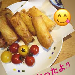 春巻き/おうちご飯/LIMIAファン/フォロー大歓迎 春巻き作りました♬  ①ジャガイモを千切…