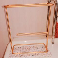 洗面所/収納/ヘアアイロン収納 今までのヘアアイロン収納は 洗面台の下扉…(2枚目)