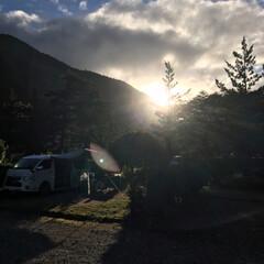 自然/早朝/朝日/キャンプ/風景/旅 年に一度のキャンプ… 前日大雨でしたが …