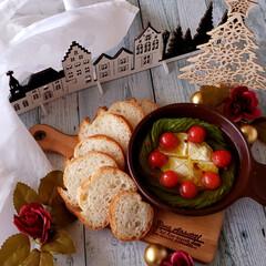 アヒージョ/アボカド/オリーブオイル/クリスマスメニュー/クリスマスカラー/おつまみ/... カマンベールチーズとアボカドとトマトのク…