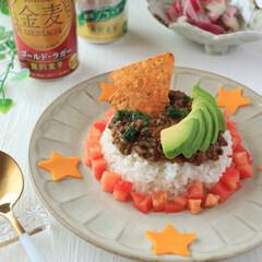 キーマカレー/カレー/アレンジ/簡単レシピ/おうちごはん/カレーリメイク/... タコライス風キーマカレー