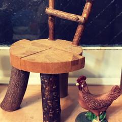 椅子 /ミニチュア/ハンドメイド/雑貨/インテリア 夫が数年前に作ったミニチュアの椅子です。…