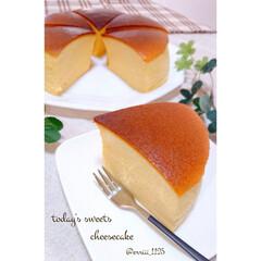 お菓子作り/定番お菓子/手作りチーズケーキ/手作りお菓子/手作りおやつ/今日のおやつ/... 子供達の大好きな スフレチーズケーキ焼き…
