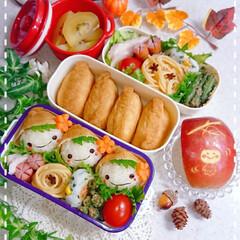 りんご飾り切り/ランチ/お昼ごはん/お弁当/頭巾にぎり/頭巾ちゃん/... 娘弁当です🙋