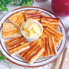 おうちカフェ/今日のおやつ/パン耳フレンチトースト/パン耳アレンジ/パン耳/フレンチトースト 今日のおやつに パン耳でフレンチトースト…