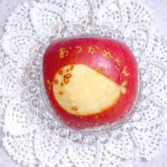 りんご飾り切り/お昼ごはん/手抜き弁当/簡単弁当/手作り弁当/タコライス弁当/... 今日の娘弁当です😃 (4枚目)