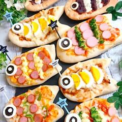 スイーツピザ/こどもの日ごはん/おうちカフェ/おうちごはん/手作りピザ/こいのぼりピザ/... 朝からピザ作り🍕 こどもの日も近いので …(1枚目)