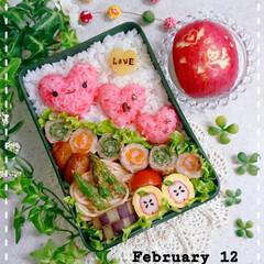 飾り切り/りんご/バレンタイン弁当/高校生男子弁当/息子弁当/バレンタイン2020/... 今日の息子のお弁当です😃 ちょっとやり過…