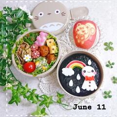 和風パスタ/あつ森/りんご/はんぺんアート/てるてる坊主弁当/ランチ/... 今日の娘のお弁当です😃
