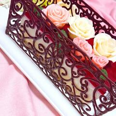 バラチョコ/薔薇チョコ/チョコ薔薇/プラチョコ/チョコ細工/手作りケーキ/... 明けましておめでとうございます🎍 202…(2枚目)
