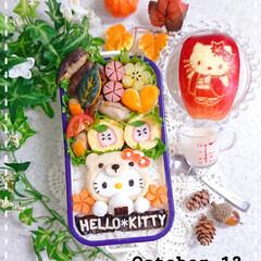 手作り弁当/可愛いお弁当/りんご飾り切り/お昼ごはん/娘弁当/はんぺんアート/... 今日の娘弁当です❤️