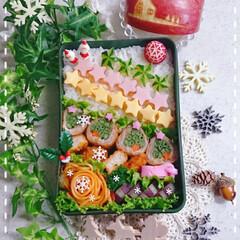 肉巻き/りんご/クリスマス/高校生男子弁当/息子弁当/お弁当/... 今日の息子のお弁当です😃