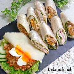 お昼ごはん/手作りトルティーヤ/タコス/タコミート/トルティーヤ/おうちごはん/... 今日のお昼は トルティーヤでした🥰