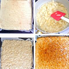 おうちおやつ/アーモンド/焼き菓子/フロランタン/手作りお菓子 フロランタン作りました🥰(3枚目)