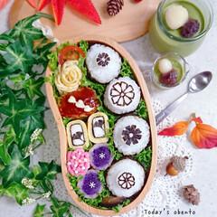 ミニプリン/抹茶プリン/海苔アート/おにぎり弁当/ランチ/お昼ごはん/... おはようございます☀ 今日の娘弁当です(…(1枚目)