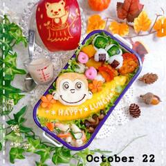 お弁当/ランチ/お昼ごはん/りんご飾り切り/オムライス弁当/オムライス/... 今日の娘弁当です🙋 (1枚目)