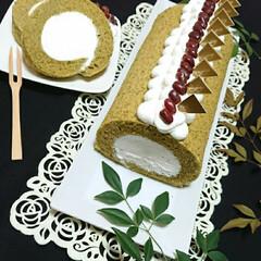 お菓子作り/手作りお菓子/手作りおやつ/ロールケーキ/抹茶スイーツ/抹茶ロールケーキ/... 抹茶ロールケーキ🥰🥰